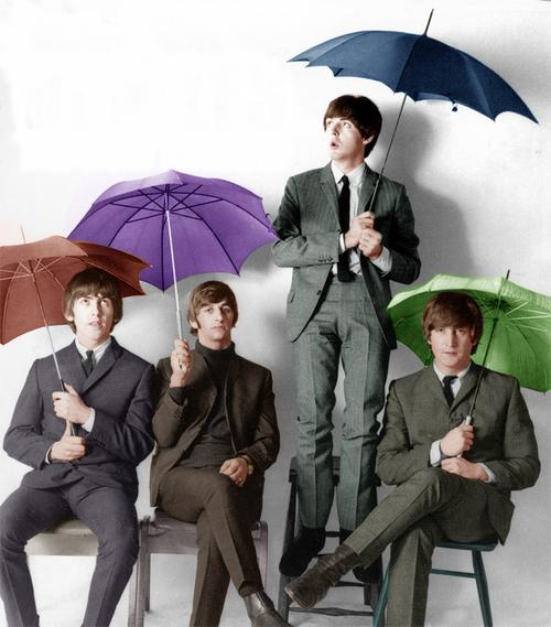 The+Beatles+UmbrellaColor