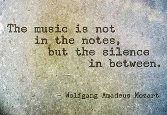 The music is not in the notes but the silence in between