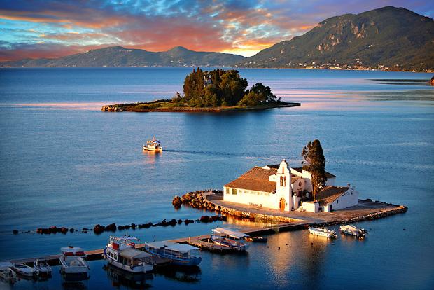Greek Orthodox Convent of Vlachernas, Kanoni, Peninsula, Corfu Greek Ionian Islands