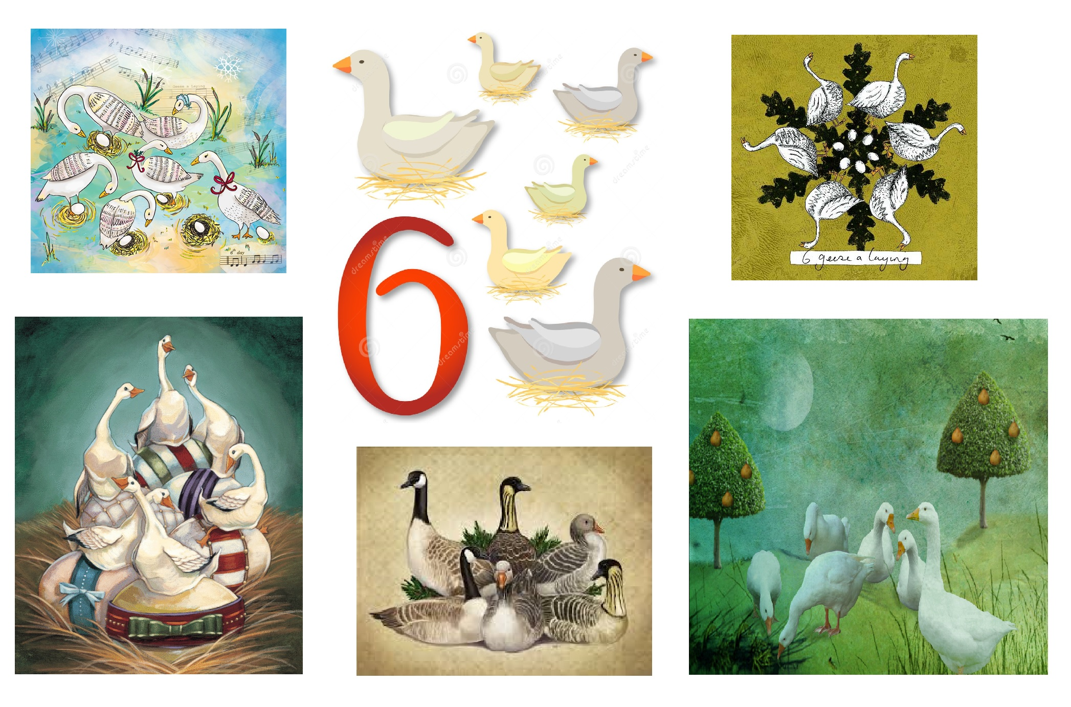 6 geese a laying…