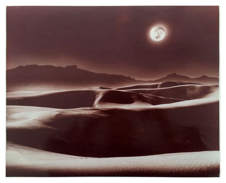 Full Moon White sands New Mexico Nasa Photographer Judson Carrothers Vintage colour print 40x50 cm Found in Carrizozo New Mexico
