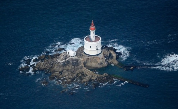 La Teignouse lighthouse aerial view
